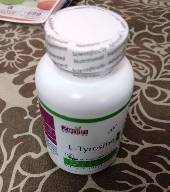 Zenith Nutrition L-Tyrosine 500mg - 60 Veg Capsules Review