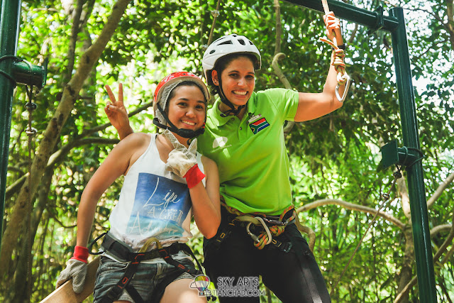 A picture with GO Simone after she completed her tree top challenge with a flying fox