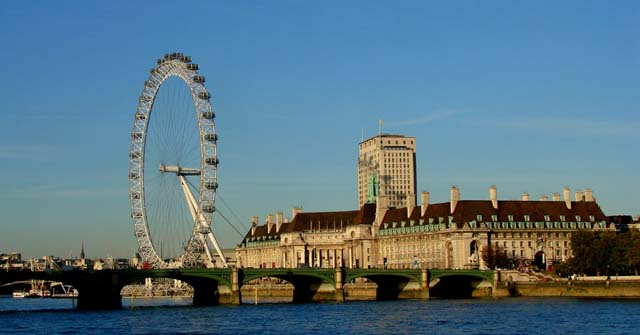 Westminster Bridge River Thames London Eye
