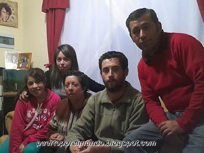 Enero 2014: día de la partida junto a la familia en Puerto Montt, Chile.