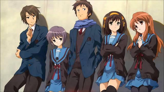 The Melancholy of Haruhi Suzumiya (Suzumiya Haruhi no Yuuutsu) - Best Time Travel Anime List