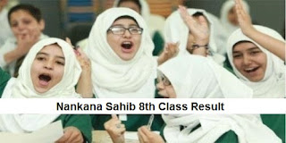 Nankana Sahib 8th Class Result 2018 PEC - BISE Nankana Sahib Board Results Announced Today