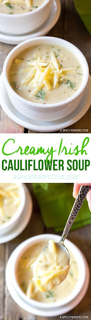 Irish Creamy Cauliflower Soup