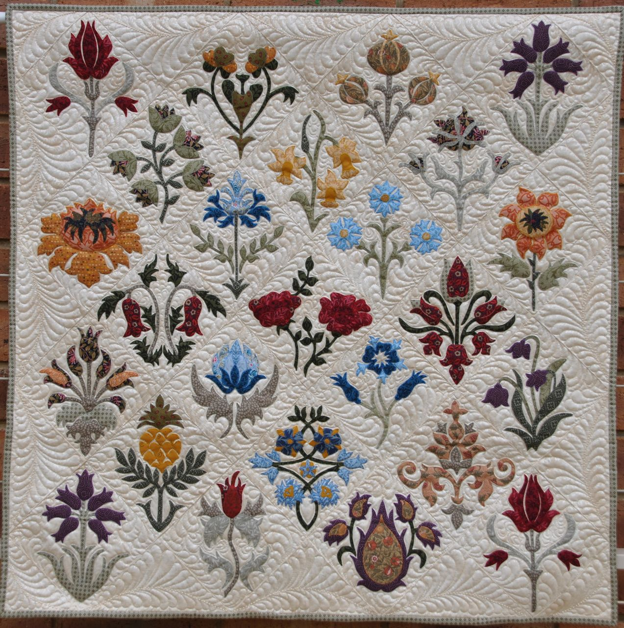 William Morris Machine Embroidery Designs