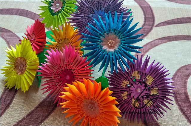 664. Kwiaty z origami / 3d origami flowers