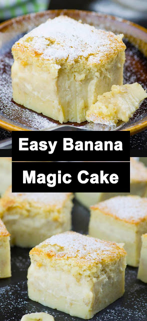 Delicious Easy Banana Magic Cake