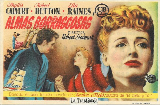 Programa de Cine - Almas Borrascosas - Ella Raines - Phyllis Calvert