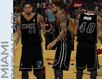 NBA 2K13 Miami Heat Back in Black Jersey Patch