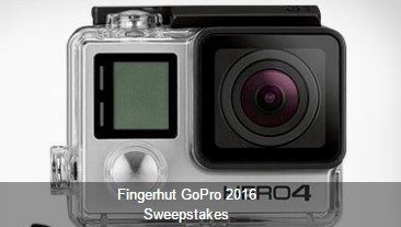 Fingerhut wants you to enter daily for a chance to be one of ten lucky winners who receive a GoPro Hero 4 Camera to record all of your summer fun!