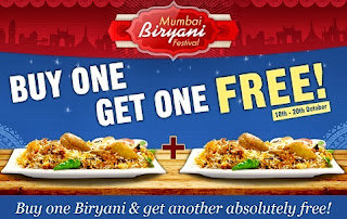 Mumbai Biriyani Festival : Buy 1 Biryani & Get 1 Free at Foodpanda
