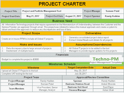 project charter template ppt, project charters templates