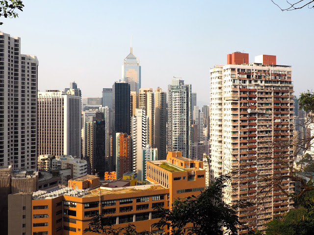 View of Wan Chai from Bowen Road, Hong Kong
