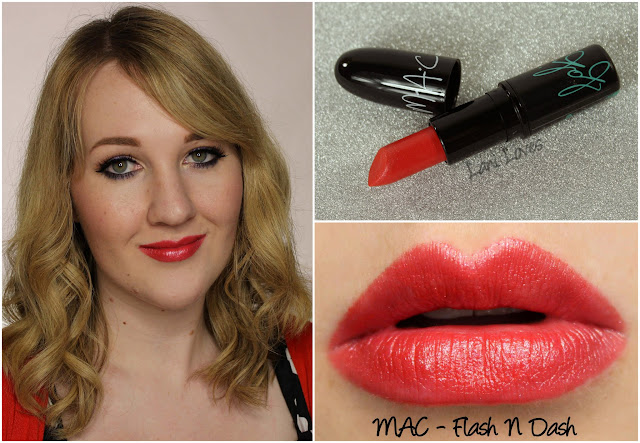 MAC Flash n Dash lipstick swatch
