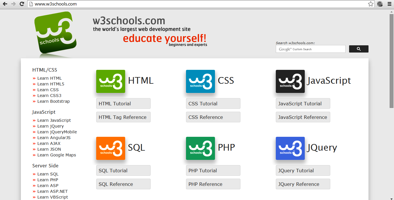 w3schools - techterabyte.com