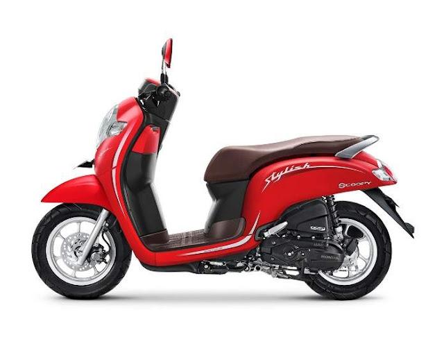 Warna Baru Honda Scoopy 2019 Stylish Merah