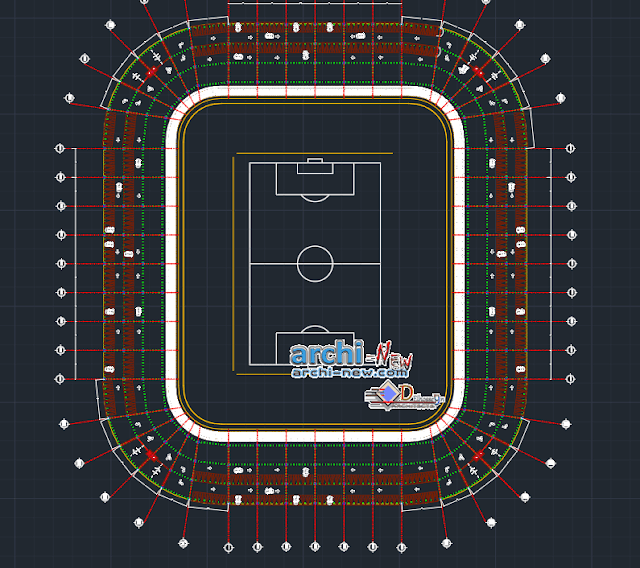 Football stadium Dwg