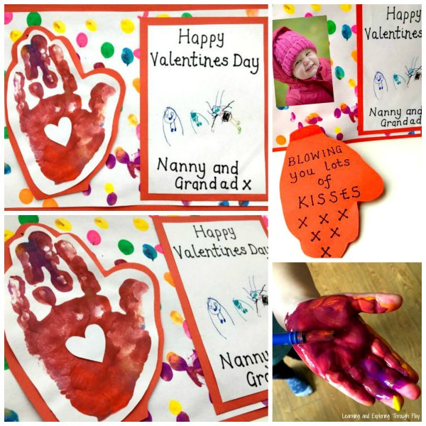 Blowing a Kiss Hand Print Card