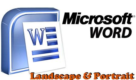 Cara Membuat Landscape dan Potrait Dalam Satu File Document Word