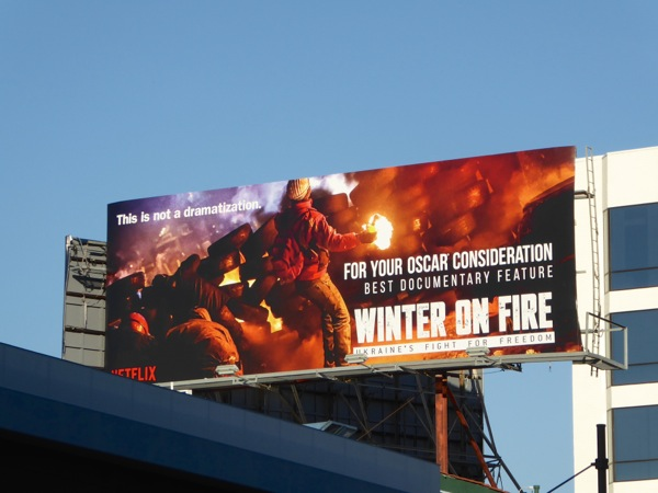 Winter on Fire Oscar Documentary billboard