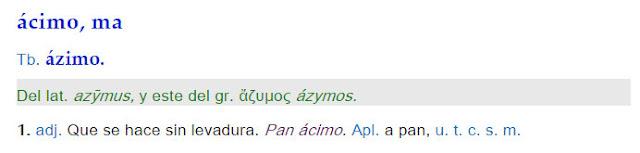 Ácimo/a - definición