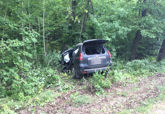 В Башкирии Toyota Land Cruiser слетела в кювет: водитель погиб