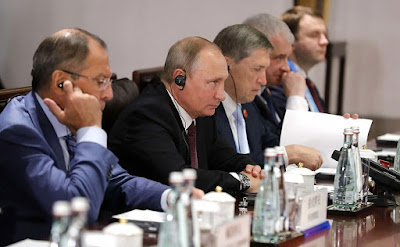 Vladimir Putin during talks with President of the People's Republic of China Xi Jinping.