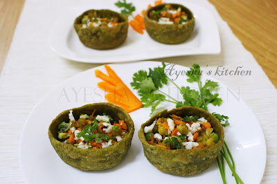 healthy vegetable recipe with spinach and wheat flour