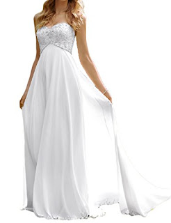 Favors Dress Women's Sweetheart Beach Wedding Dress