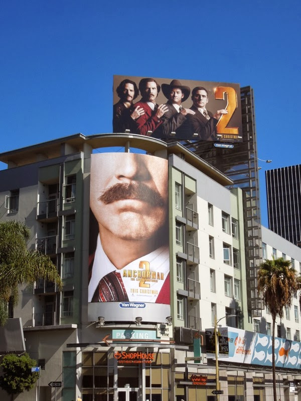 Anchorman 2 Legend Continues billboards
