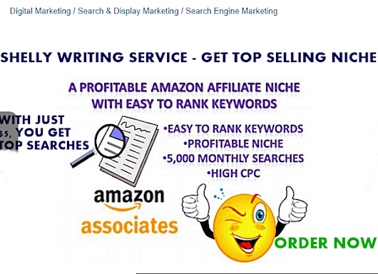 I Will Research High Profitable Amazon, Clickbank Niche To Sell On