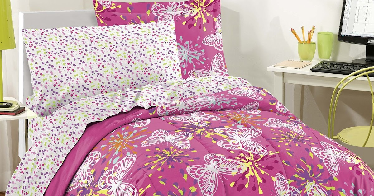 Total fab purple and pink butterfly comforters and - Purple and pink comforter ...