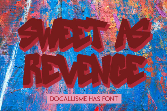 Sweet As Revenge Download Font Free