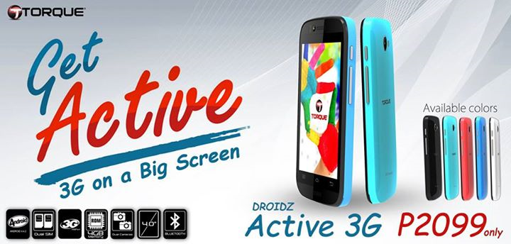 Torque DROIDZ Active 3G Specs, Price and Availability