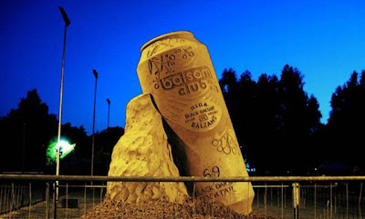 Escultura de arena cerveza