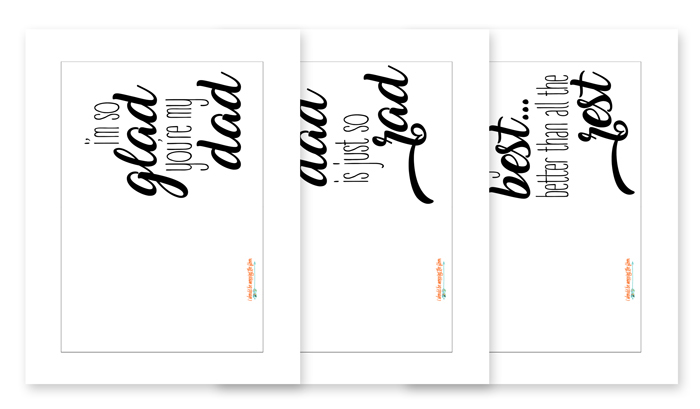 Printable Fathers Day Cards to Color That are Divine