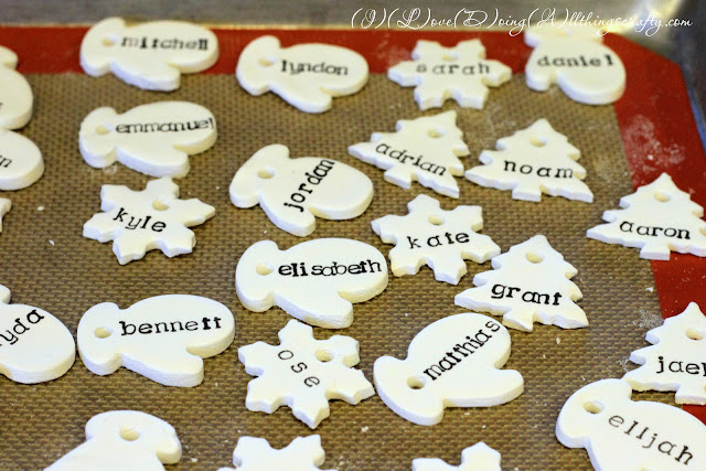 Homemade Personalized Clay Ornaments using Stamps | Christmas Craft