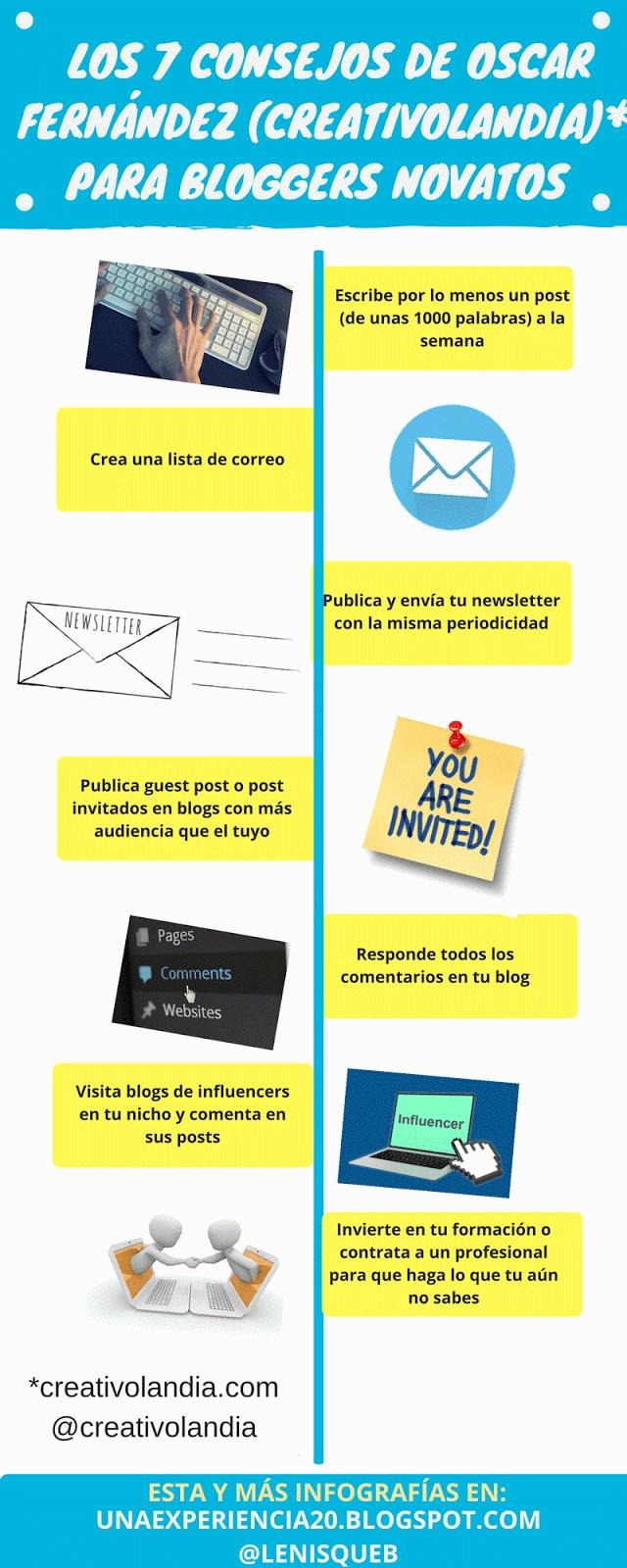 infografía 7 consejos bloggers por oscar fernandez