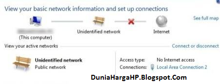 Cara Memperbaiki Unidentified Network No Internet Network Access Windows