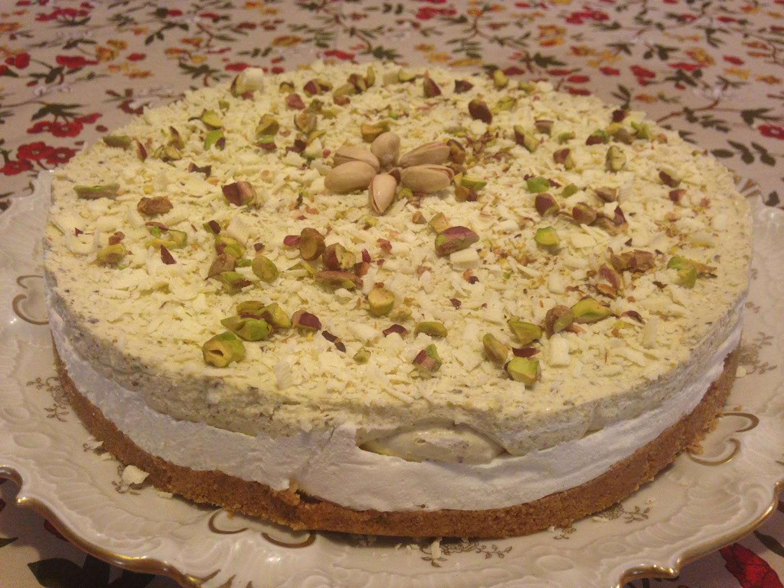 Cheesecake Cioccolato Bianco E Pistacchi