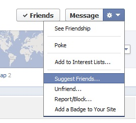 facebook suggest friends menu