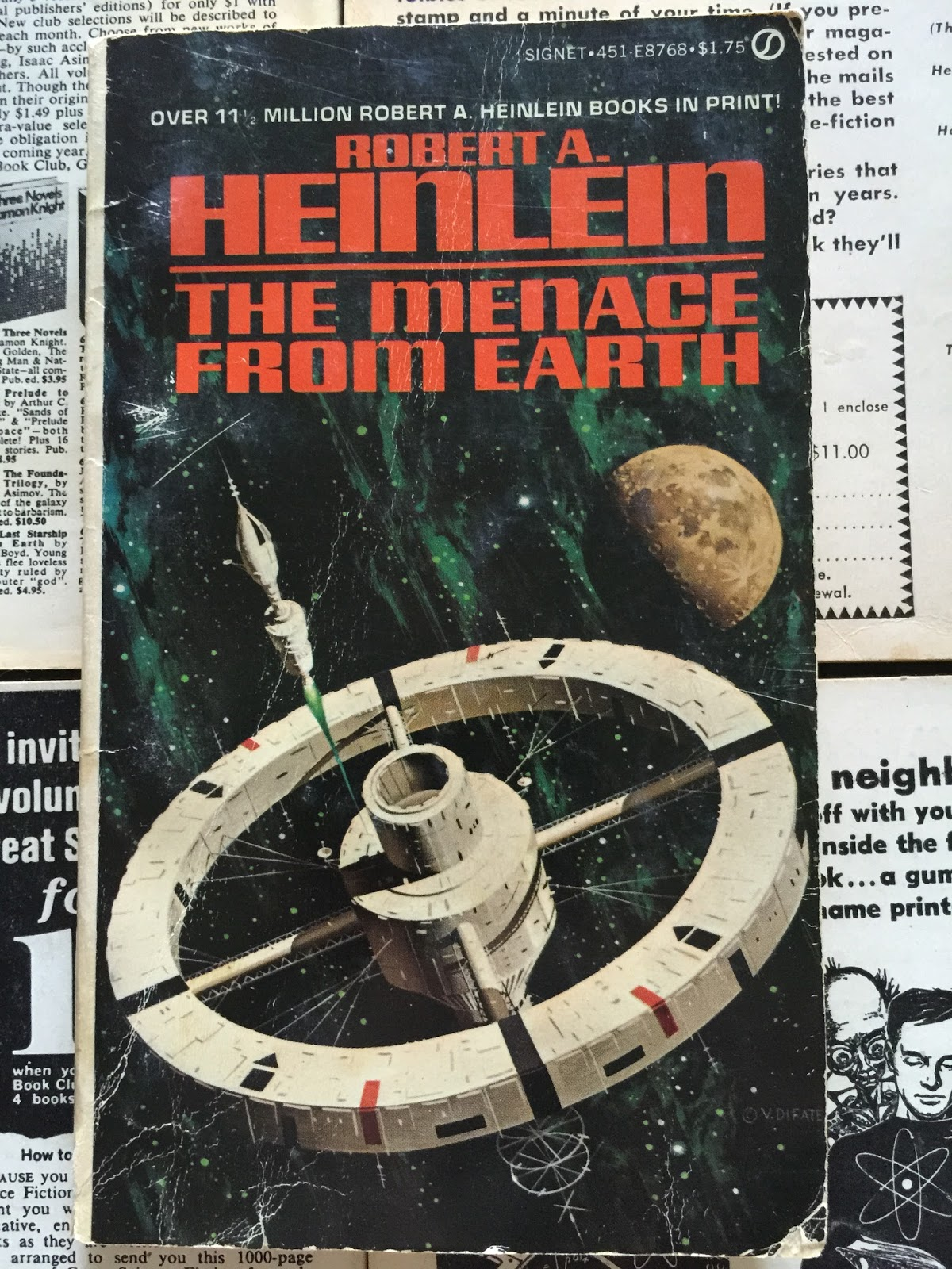 First Edition Fantasy Vintage Science Fiction Book Covers