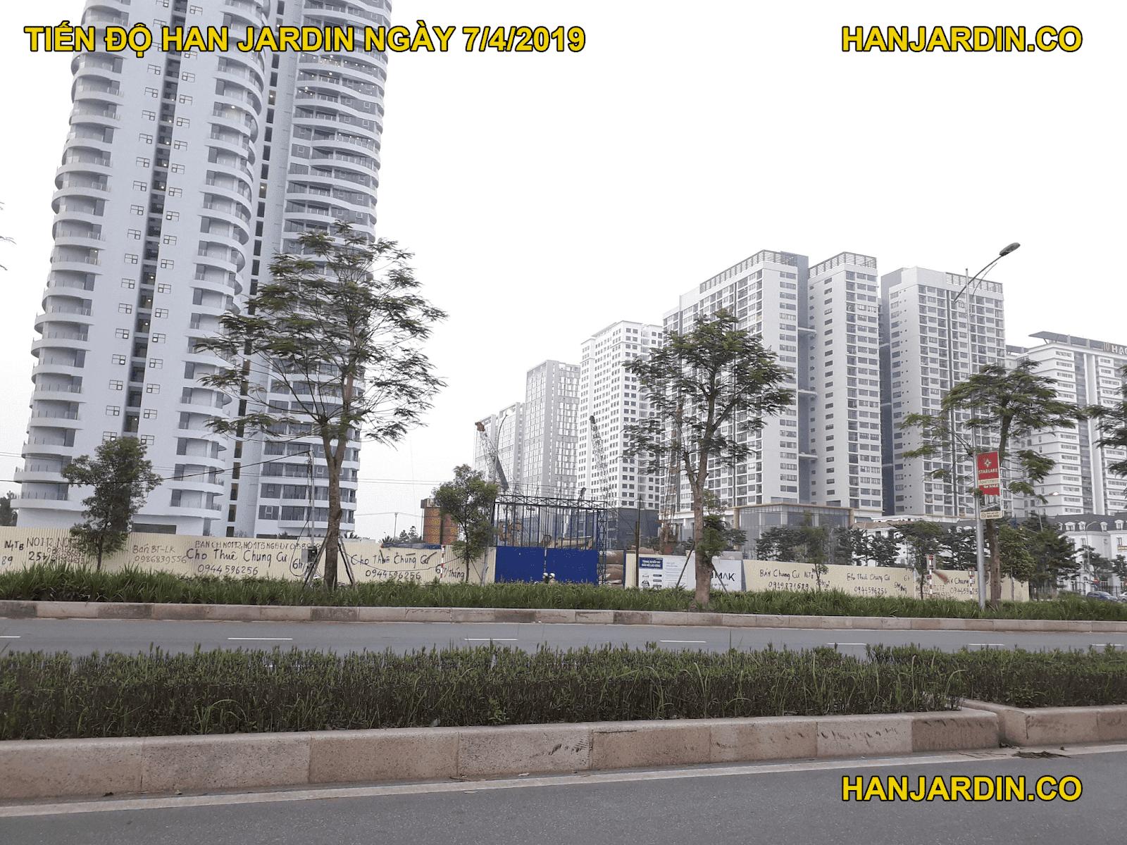 Tiến độ dự án Han Jardin Ngoại Giao Đoàn tháng 4 năm 2019.