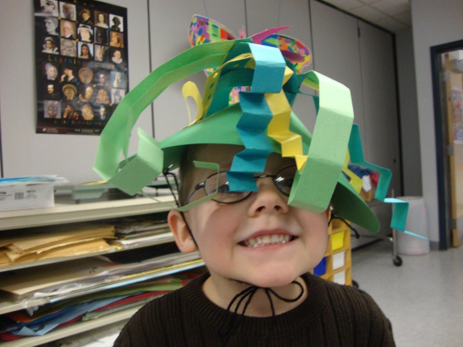 Art. Paper. Scissors. Glue!: Silly Hats