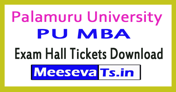 Palamuru University PU MBA Exam Hall Tickets Download 2017