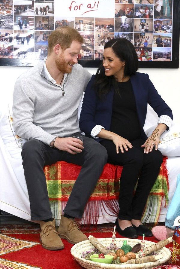 Meghan Markle KISSES Prince Harry and Looks so Happy in her First trip to Morocco after Pregnancy