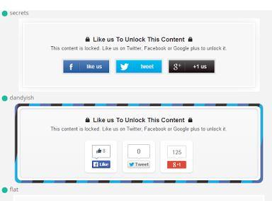 Social Content Locker Blogger