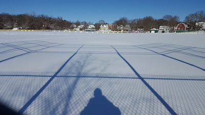 shadow self at Fletcher Field in Franklin