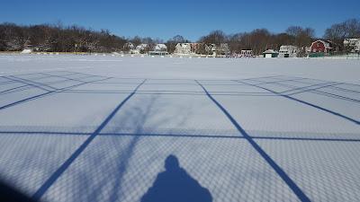 shadow self at Fletcher Field in Franklin