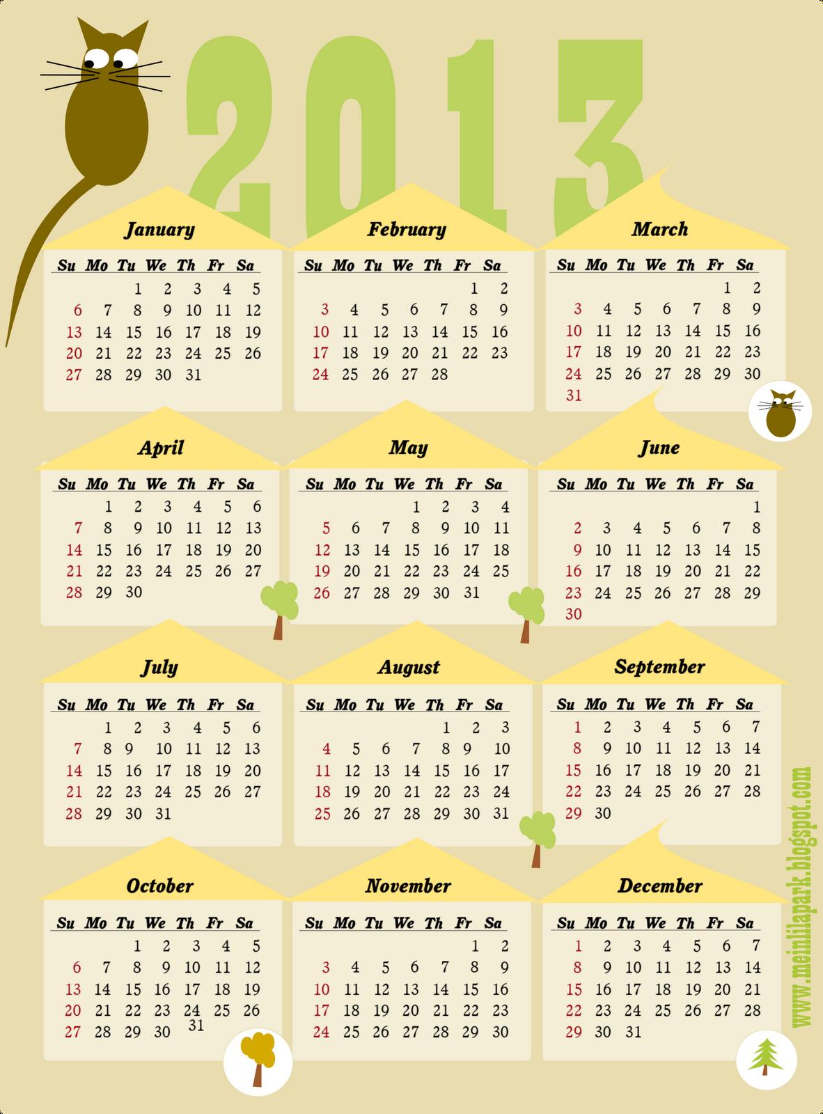 at a glance calendar printable