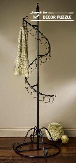Creative scarf display and storage ideas, organizer, rack